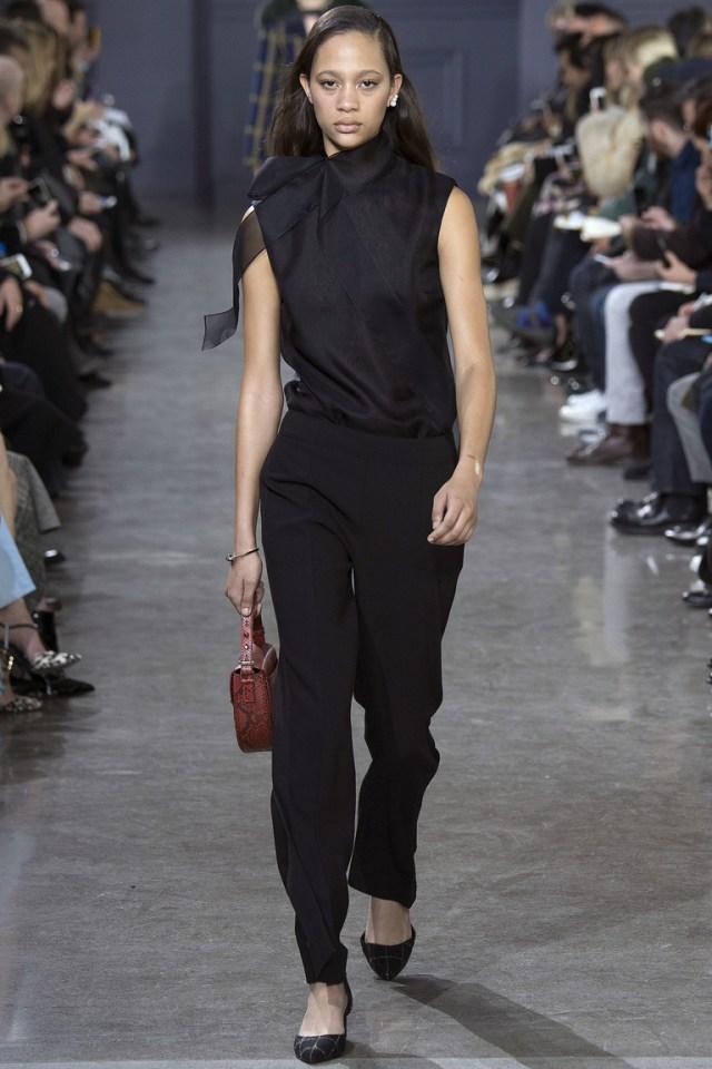 Модные черные брюки 2017 - фото новинки из коллекции Jason Wu