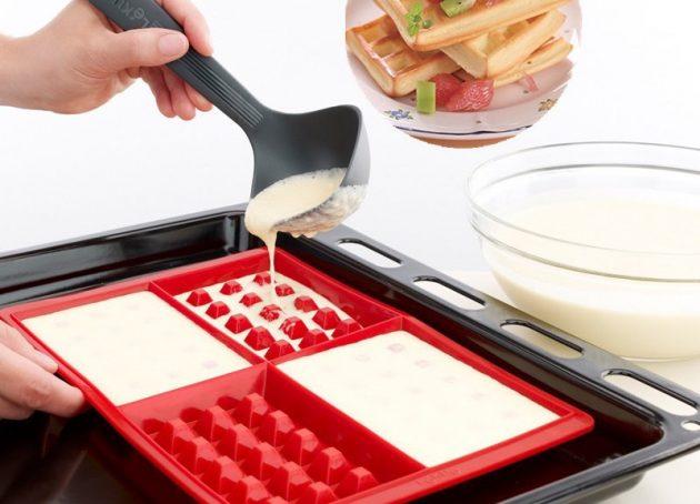 Формочка для приготовления оригинальных вафлей