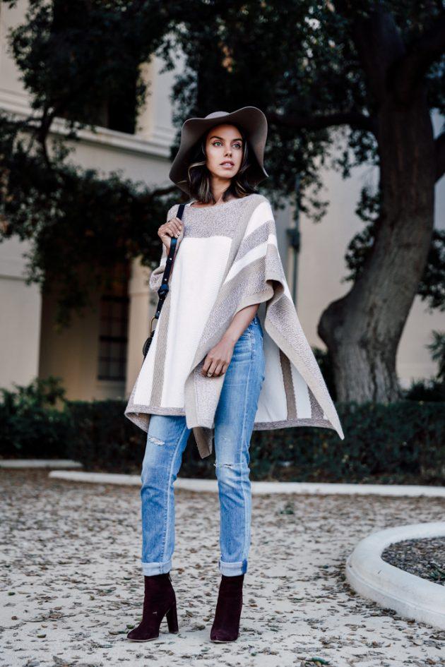 Пончо – новые стильные луки этого сезона