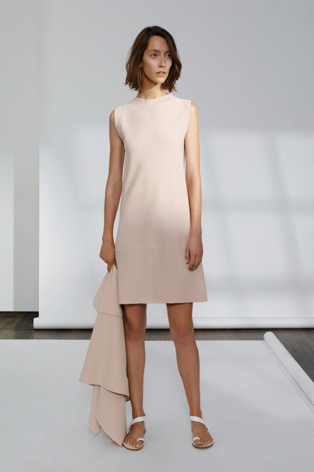 Модное розовое платье футляр 2017 из коллекции TSE