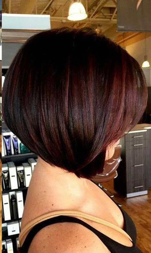 Модный боб 2017 на короткие волосы - фото вид спереди и сзади