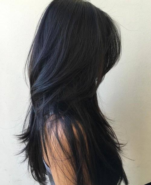 Модная рваная стрижка на длинные волосы 2017 - фото женские