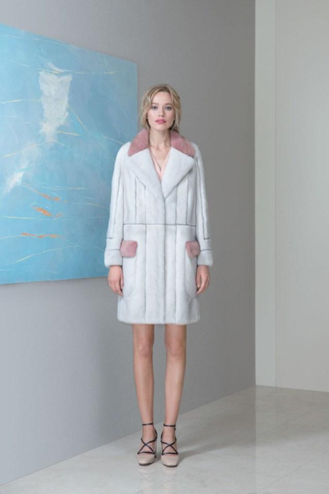 Модная шуба 2017 из искусственного меха из коллекции Emil-Shabaev.