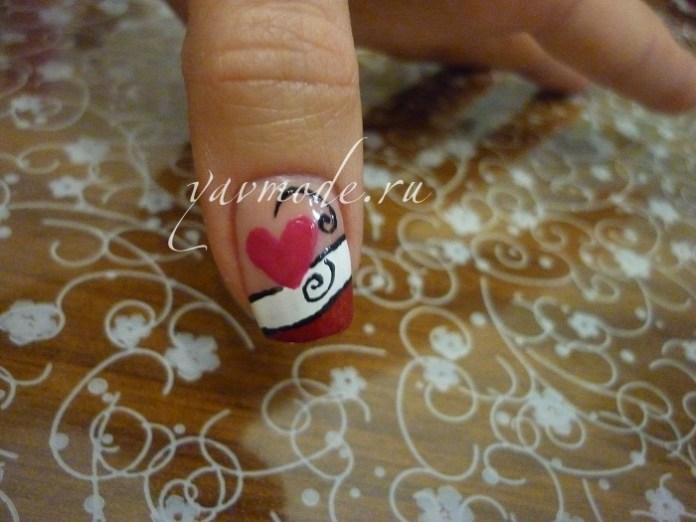 Идея: дизайн ногтей с сердечками