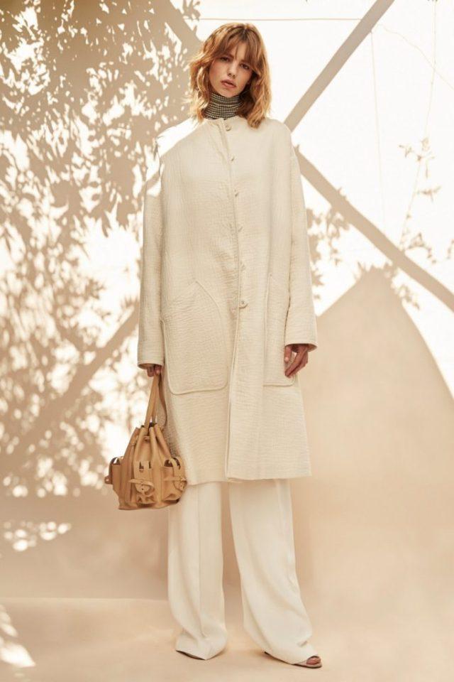 Модное пальто 2017 белого цвета - фото обзор коллекции Derek Lam.