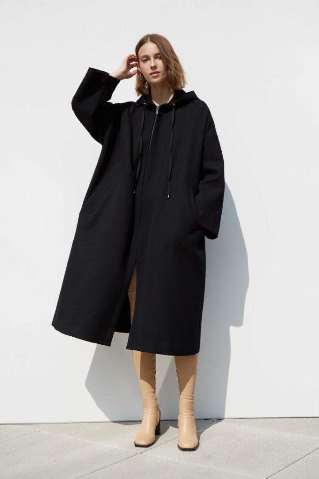 Модное пальто 2017 оверсайз черного цвета - фото обзор коллекции Helmut Lang.