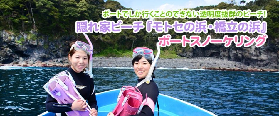 伊豆のボートスノーケリング
