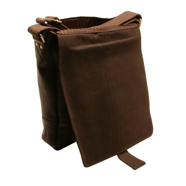 Ashwood – Brown A4 Sligo Messenger Bag in Natural Cow Tumble Leather