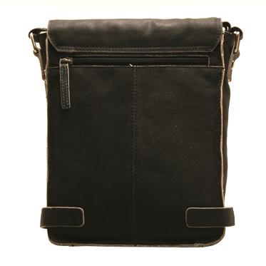 Ashwood – Antique Black A4 Cow Vintage Leather Camden Messenger Bag