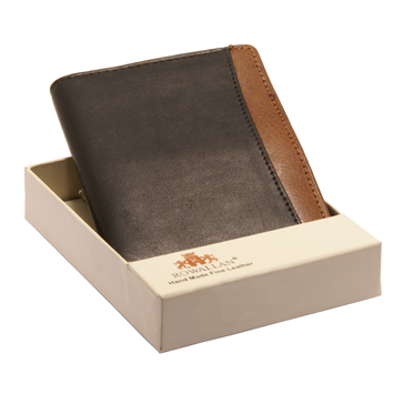 Rowallan – Black Full Grain Soft Cowhide Leather Credit Card/ID Holder