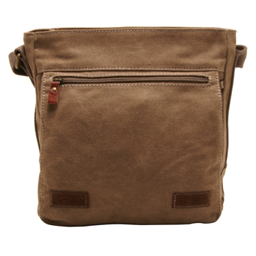 Troop London – Brown Classic Across Body/Messenger Bag in Canvas-Leather