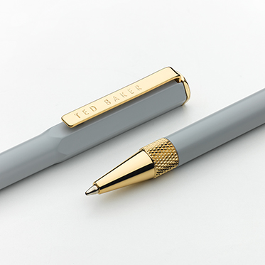 Ted Baker – Grey Spinel Premium Ballpoint Pen in Presentation Gift Box