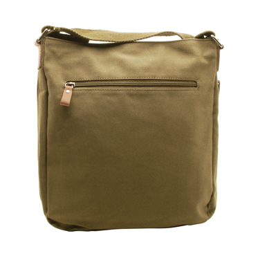 Underwood & Tanner – Large Olive Green Messenger/Body Bag in Canvas-Leather