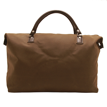 Home Works – Large Brown Mock Nubuck Expandable Travel Holdall