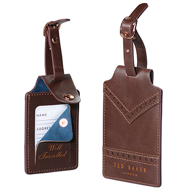 Ted Baker – Set of 2 Walnut Brown Luggage Tags in Presentation Gift Box