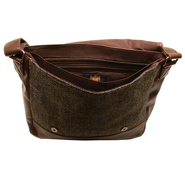 The British Bag Company – Carloway Harris Tweed Briefcase Messenger Bag