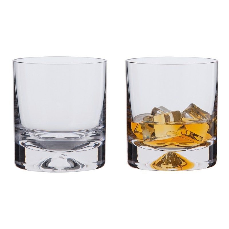 Dartington Crystal – Dimple Old Fashioned Pair of Whisky Glasses in Gift Box