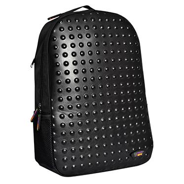 Urban Junk – Dot 2 Dot Black 3rd Dimension Embossed Rucksack/Backpack