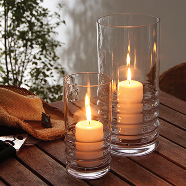 Dartington Crystal – Wibble Collection Small Hurricane Lamp with Candle in Gift Box