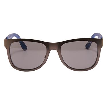 Tommy Hilfiger – Gunmetal/Denim Blue Classic Sunglasses with Case