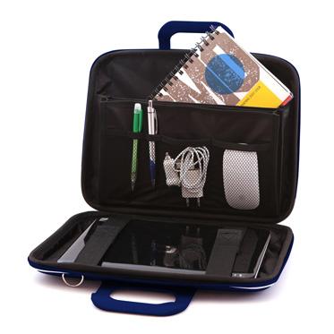 Bombata – Dark Blue Medio Classic 13″ Laptop Case/Bag with Shoulder Strap