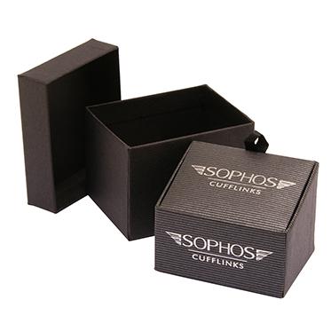 Sophos – Gunmetal Watch Design Round Cufflinks in Gift Box