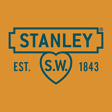 Stanley Tools – Black & Tan Leather Card Wallet in Silver Metal Presentation Tin