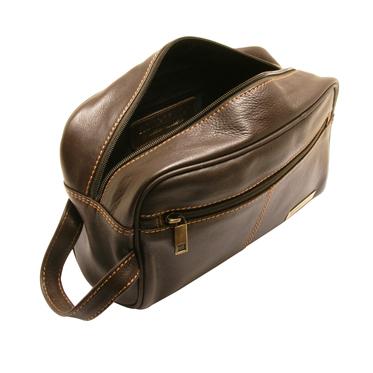 Rowallan – Brown Buchanan Soft Cowhide Leather Wash Bag