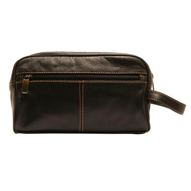 Rowallan – Black Buchanan Soft Cowhide Leather Wash Bag