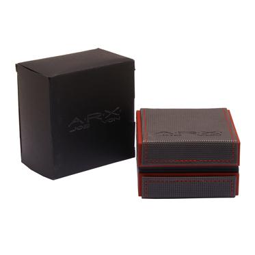 Jos Von Arx – Arx Black Plated Cufflinks with Arx Logo Design