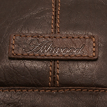 Ashwood – Small Dark Brown Crumble Leather Kingston Messenger Flight Bag