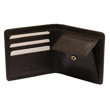 PellMell – Islay Tweed Coin Purse Wallet with Golfer Design & Black Leather Trim