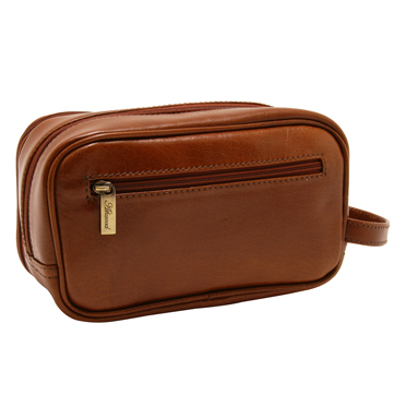 Ashwood – Chestnut Brown Vegetable Tanned Buffalo Leather Chelsea Wash Bag