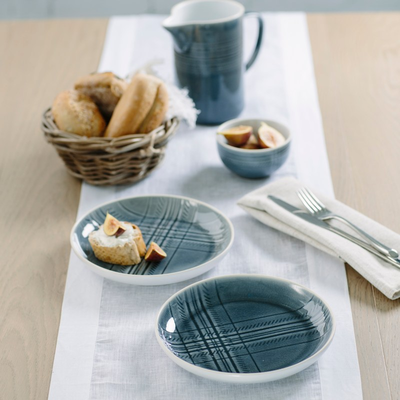 The Just Slate Company – Highland Collection 2 Ceramic Serving Plates in Gift Box