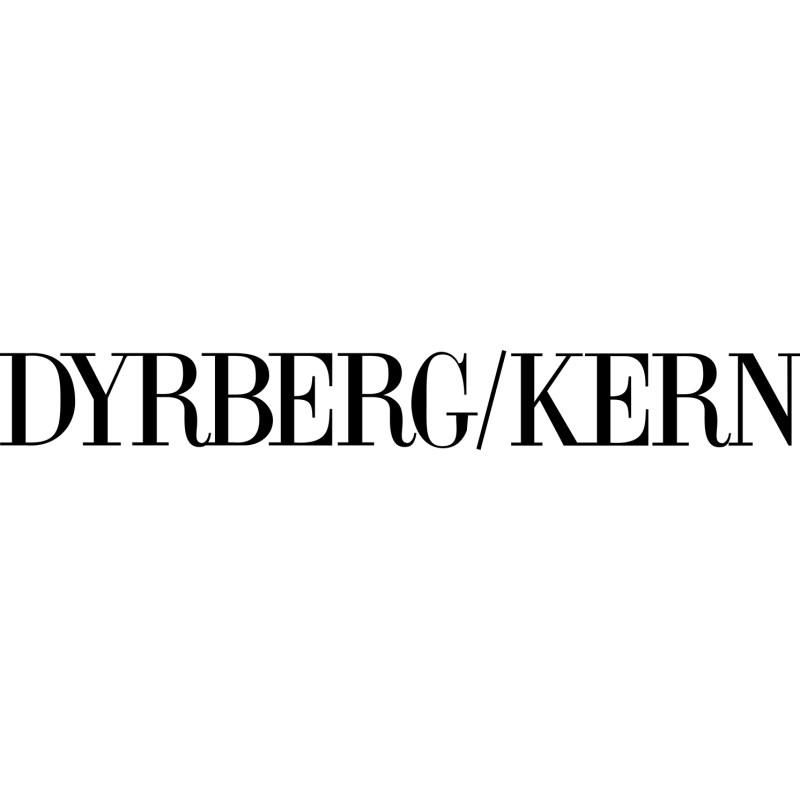 Dyrberg/Kern – Matt Gold Hammered Pattern Troll Button Ring Size III