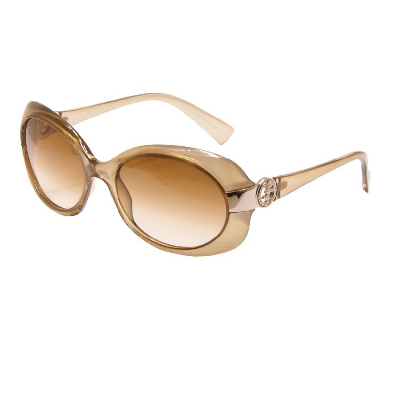 Giorgio Armani – Gold Mirrored Oversized Sunglasses with Case