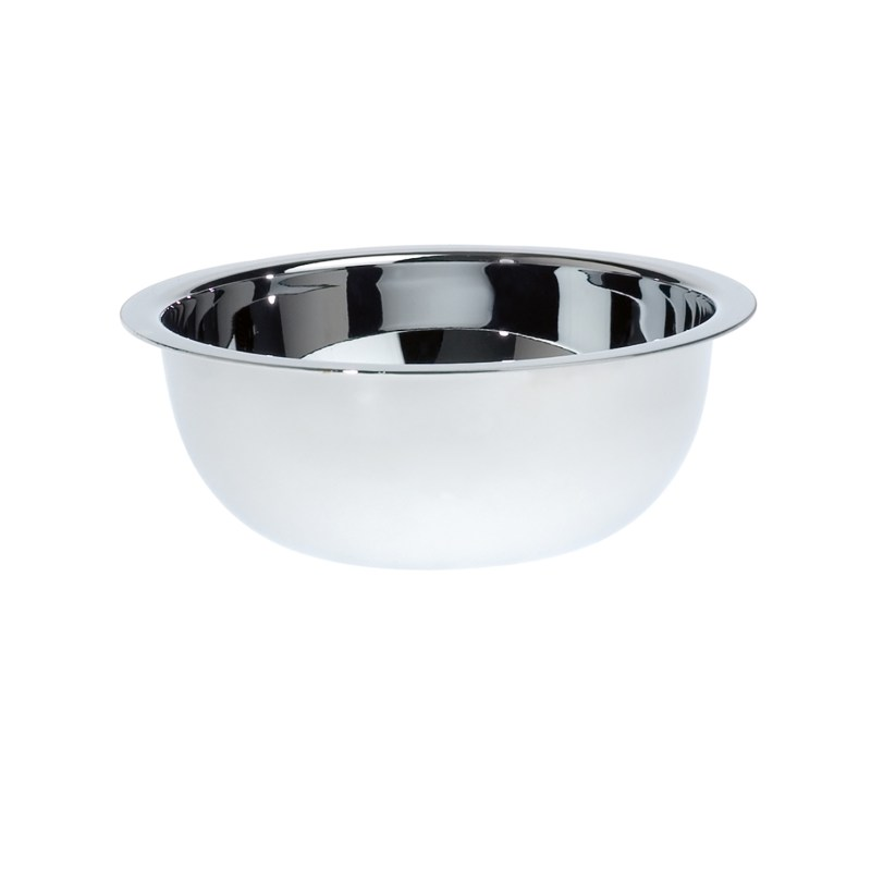 Edwin Jagger – Stainless Steel Shaving Bowl with Limes & Pomegranate Soap in Box