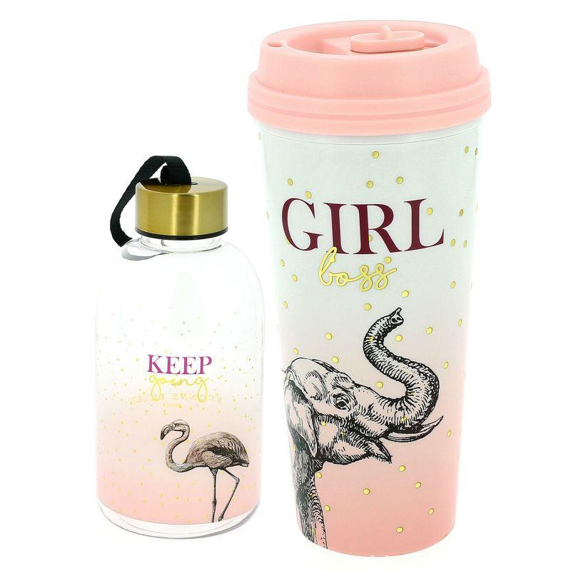 Yvonne Ellen – Wild Opulence Elephant Travel Tumbler & Flamingo Water Bottle
