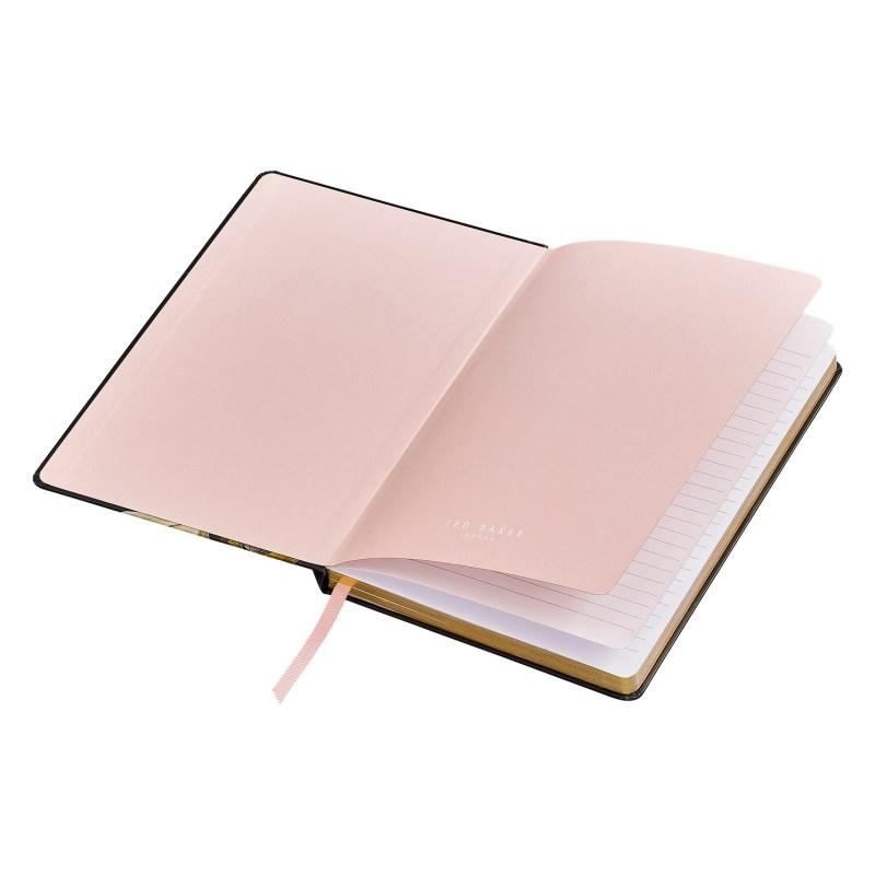 Ted Baker – Black Opal Floral A5 Hardback Printed Notebook
