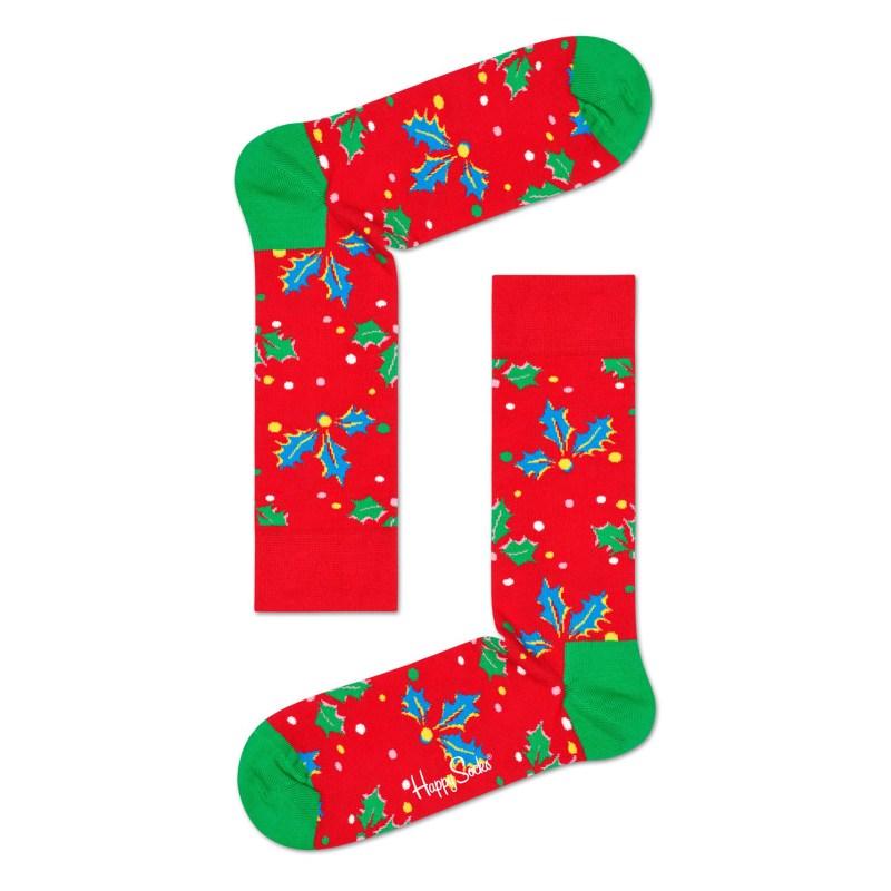 Happy Socks – Set of 3 Pairs of Xmas Happy Holiday Socks in Singing Gift Box