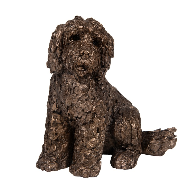 Frith Sculpture – Lucy – Cockapoo Sitting in Bronze Resin by Adrian Tinsley