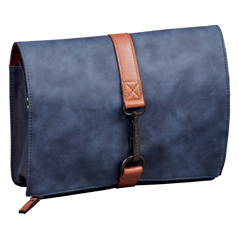 Ted Baker – Navy Blue Cable Tidy Bag with a Ted Baker Branded Securing Clasp