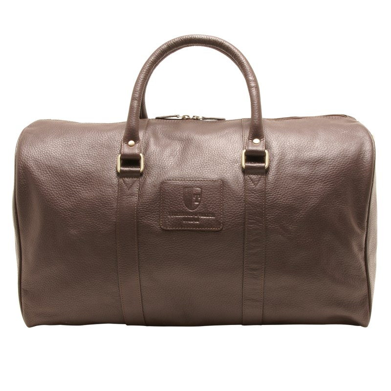 Underwood & Tanner – Brown Knightsbridge Travel Holdall in Soft Grained Leather