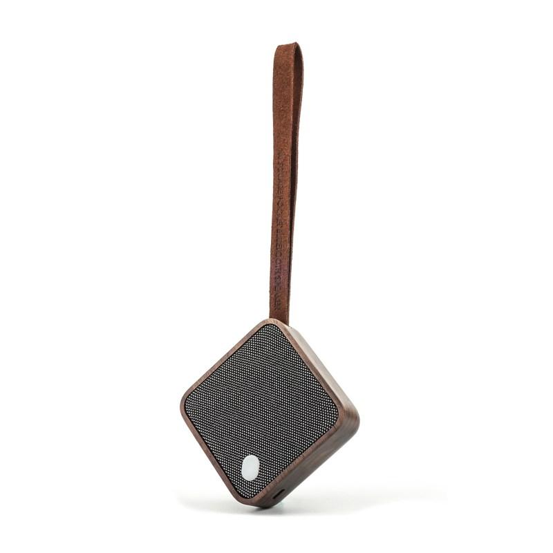 Gingko – Mi Square Pocket Bluetooth Speaker in Gift Box – Walnut