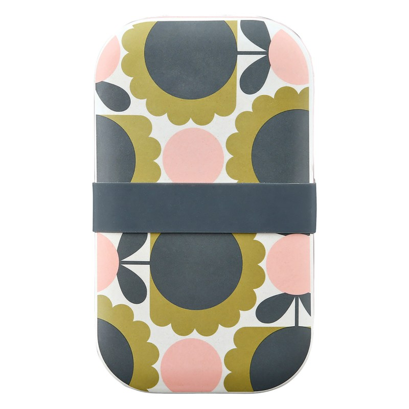 Orla Kiely – Scallop Flower Forest 2 Tier Bamboo Lunch Box