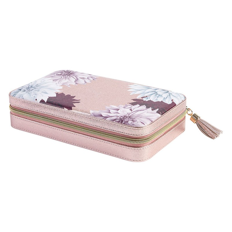 Ted Baker – Metallic Pink Clove Large Jewellery Case with Mirror