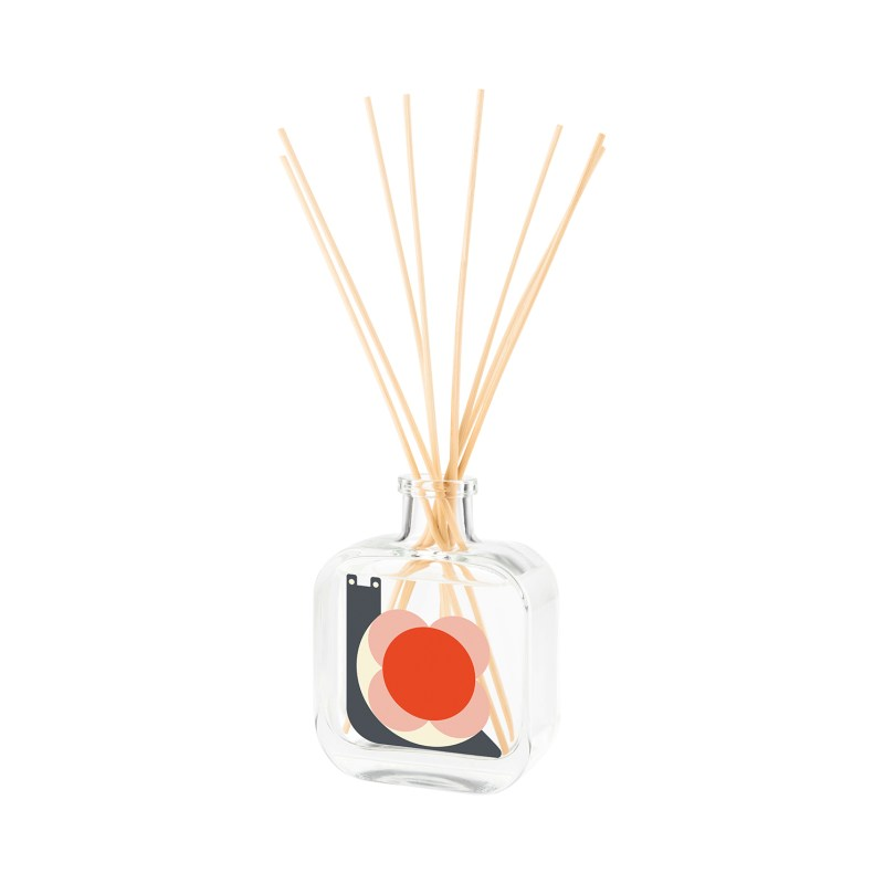 Orla Kiely – Rose, Geranium & Eucalyptus Snail Moulded Reed Diffuser in Gift Box