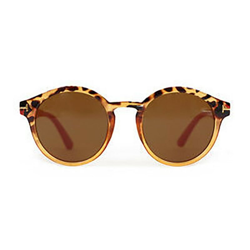 Powder – Tortoiseshell & Coral Erin Sunglasses with Pouch and Case