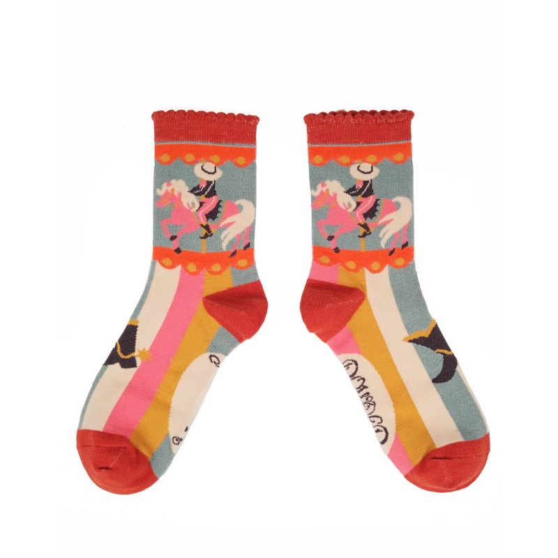 Powder – Ice Cowgirl Ankle Socks with Presentation Gift Bag
