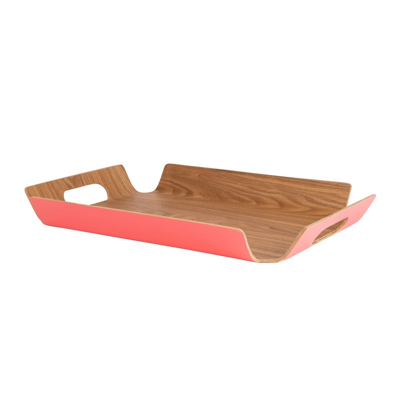 Navigate – Summerhouse Coral Willow Wood Medium Serving Tray